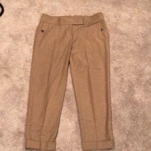 LOFT tan lightweight pants with cuff
